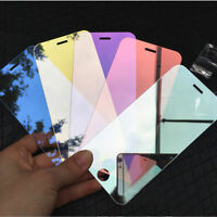 For iPhone 6s 7 Plus 3D Mirror Colour Effect Temper Glass Screen Film Protector