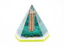 HEALING CRYSTALS 5 Star Orgone Pyramid REIKI ENERGY Malachite Orgonite Generator