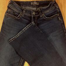 SILVER Jeans SUKI SURPLUS Bootcut 28x32 Dark Distressed  *MINT LN*  W021218