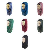 One Piece Cotton Hijab Slip On Hijabs READY JERSEY Muslim woman Scarf.0