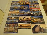 SYDNEY AUSTRALIA POSTCARDS UNUSED--14 in Collection- PLUS 1 FRIDGE MAGNET