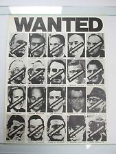 Vintage WANTED Richard Nixon Watergate Poster AWESOME Early 70s RARE Print