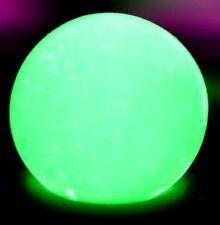 """ART GLASS MARBLE/.606""""VASELINE URANIUM PLAYER-TRANS. LT GREEN/NEON-BLACKLIGHT"""