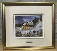 Vtg Raynald Nadeau Oil On Board Painting Charlevoix Quebec Canada 3x Signed 1993