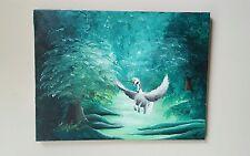 Enchanted Forest, Acrylic, fantasy, surrealism, original, signed