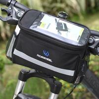 Cycling Bicycle Bike Handlebar Front Frame Tube Bag Pouch Case Basket Pannier