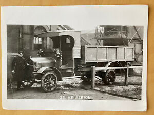Salford Corporation Electricity Department 32. H.P. Albion Flat Bed Truck Photo.