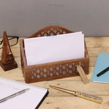 kolab Portacartas de Madera Estrella tallado 3 secciones SISU hecho a mano Jali