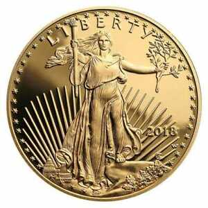 2018-W American Eagle One-Tenth Ounce Gold $5 Proof Coin w/ COA in OGP