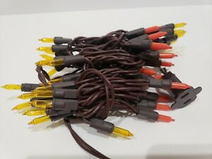 Fall Thanksgiving Orange Yellow BROWN CORD String Lights Decorations 50ct