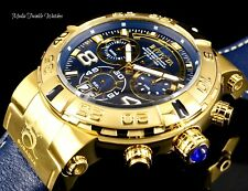 Invicta 52mm Subaqua Noma I Elegant Swiss Quartz Chronograph Leather Strap Watch