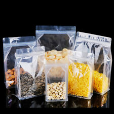 Matte/Clear Seal Stand Up Bags Plastic Zip Pouches Side Gusset Food Lock Package