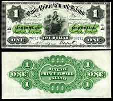 CRSIP UNC. 1877 PRINCE EDWARD ISLAND $1.00  BANKNOTE COPY READ DESCRIPTION!