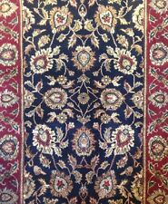 Amazing Agra - Indian Floral Rug - Deep Navy Oriental Carpet - 3 x 5 ft.