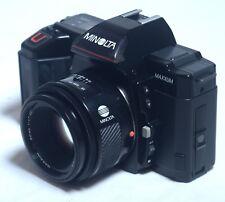 MINOLTA 5000 MAXXUM VINTAGE 35mm Film Camera AF 50mm f/1.7 Lens JAPAN