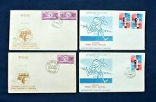 Four India FDC '1m Post Offices & International Telecomms 1965/68 Stamps Issue