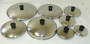 """Revere Ware Replacement Lids Stainless Steel 5"""" 6"""" 7"""" 8"""" 9"""" 10"""" 11"""" Dome MORE"""
