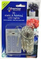 Premier 35 Battery Operated Static & Flashing LED Lights Multicolour LB111049M