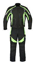 Green Motorbike Motorcycle Cordura Textile Jacket Trouser Suit CE Armours Men