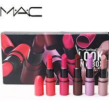 MAC Maquillaje Profesional Conjunto limitado Multi-función Sexy Lápiz Labial Mate Mate