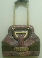 "New ""The Look"" by Randolph Duke Croco Embossed Handbag ~ Light Pink"