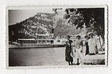 PHOTO ANCIENNE ANNECY Bateau Vapeur Savoie Port Femmes Groupe 1933 Lac Snapshot