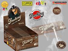 SMOKING CARTINE MARRONE BROWN KING SIZE LUNGHE 25 LIBRETTI IN 33 FOGLI