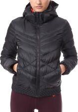 NIKE CASCADE HOODED tech DOWN Coat Women's SMALL 541410 011 Black $220+