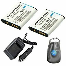 2x Digital Replacement Digital Camera & Camcorder Battery + Mini Battery Charger
