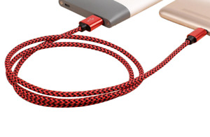 Lot 6FT Braided Type C Fast Charging Cable USB-C Rapid Cord Power Charger Charge