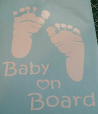 Foot Print Baby On Board Decals 5x6.5 Stickers One Z Kids Stuff Toys 4x4 Flash