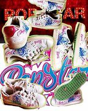 DISNEY POP STAR Hannah Montana Sneaker Halbschuhe Weiß Glitzer Gr.36 👍🏻