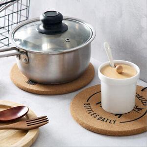 Cork Coasters Set Coffee Cup Mat Placemats Heat Insulation Pot Mats Cushion YG