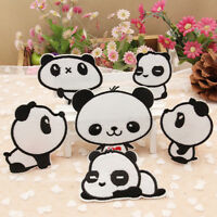 6pcs Panda Embroidery Sew Iron On Patch Badge Bag Clothes Fabric Applique~