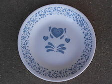 """Corelle Country Blue Heart  10""""  DINNER PLATE Corning Ware  USA"""