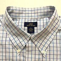 Brooks Brothers 346 Non-Iron 100% Cotton Button Down Striped Dress Shirt XL