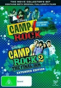 Camp Rock / Camp Rock 2 - The Final Jam (DVD, 2010, 2-Disc Set) Free Post