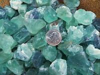1000 Carat Lots of Green Fluorite Rough - Plus a FREE Faceted Gemstone