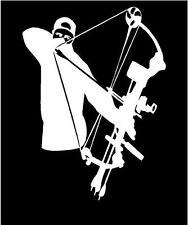 WHITE Vinyl Decal Bowhunter archer bow arrow hunt hunting country sticker