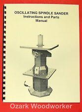Jetasian Ovs 10 Oscillating Spindle Sander Operators Amp Parts Manual 0397