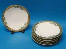 6x  ART DECO JEAN POUYAT J.P. LIMOGES PLATES HAND PAINTED w/ GILT WORK RARE