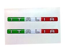 2x Italia Domed 3D Flag Stickers Italy Tricolore for Car Bike Helmet Locker