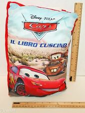 "CARS PILLOW 13"" SOFT CLOTH BOOK ITALIAN LANGUAGE MOTORI RUGGENTI LIBRO CUSCINO"