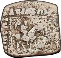AZILISES 85BC INDO SKYTHIAN King Horse Hercules Ancient Greek Coin India i47069