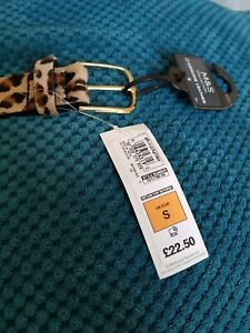 Animal print M and S leather belt size S