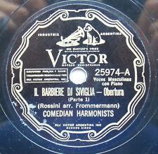 COMEDIAN HARMONISTS Victor 25974 Il Barbiere Di Siviglia Obertura RARE 78 RPM