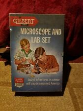 VINTAGE GILBERT MICROSCOPE AND LAB SET ORIGINAL CASE