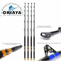 30-80LB BOAT FISHING SALTWATER RODS  BIG GAME ROLLER ROD Set of 4