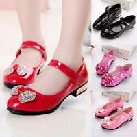 Kid Girl Party Dress Sandal Wedding Shoes Crystal Bling Bowknot Princess Shoes