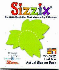 ORIGINAL GREEN SIZZIX DIE  LEAF TRIO